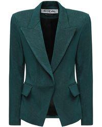 Acheval Pampa Gardel Gabardine Blazer Jacket - Green