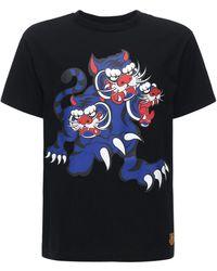 KENZO Bedrucktes T-shirt Aus Jersey - Schwarz