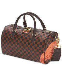 Sprayground Henny Chequered Mini Duffle Bag - Brown