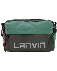 Lanvin Logo Nylon Belt Bag - Green