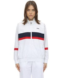 Fila Logo Zip-up Nylon Track Jacket - White