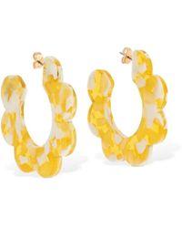 Valet Studio Maritza Flower Hoop Earrings - Yellow