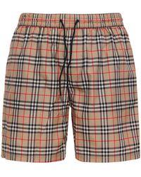 Burberry Check Print Guildes Tech Swim Shorts - Multicolour