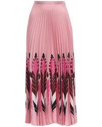 Valentino - シルクツイルスカート - Lyst