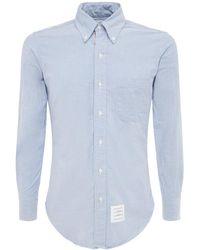 Thom Browne Grosgrain Cotton Oxford Shirt - Multicolour