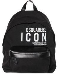 """DSquared² Rucksack Aus Technostoff """"new Icon"""" - Schwarz"""