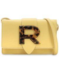 Rochas ロゴ レザーショルダーバッグ - イエロー