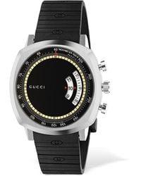 Gucci Gg Grip Watch W/ Rubber Strap - Schwarz