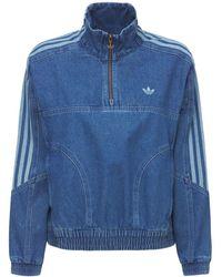adidas Originals Denim Track Top - Blue