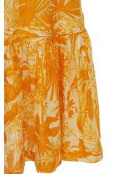Zimmermann Платье Миди Из Льна - Желтый