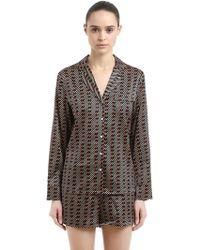 Stella McCartney - Matches Print Silk Pajama Shirt & Pants - Lyst