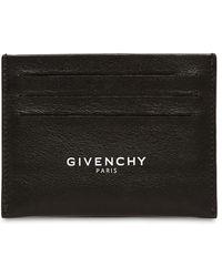 Givenchy Kartenhülle Aus Leder Mit Logo - Schwarz