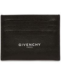 Givenchy Porte-cartes en cuir à imprimé logo - Noir