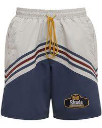 Rhude Monaco ハーフパンツ - ブルー