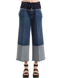 Sonia Rykiel Jeans In Denim Con Boxer - Blu