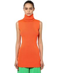 Marni Ribbed Knit Turtleneck - Orange