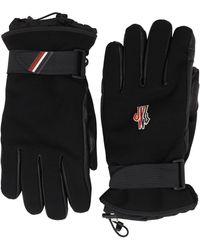 3 MONCLER GRENOBLE フェイクレザー 手袋 - ブラック
