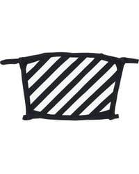 Off-White c/o Virgil Abloh Хлопковая Маска Diagonal Stripes - Черный