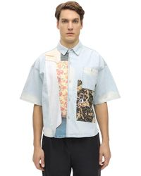 P.a.m. Perks And Mini Extensions Cotton Shirt - Blue