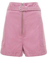 "Étoile Isabel Marant Schwere Shorts Aus Baumwolle ""parana"" - Pink"