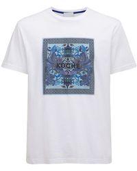 Koche T-shirt Aus Baumwolljersey Mit Logodruck - Weiß