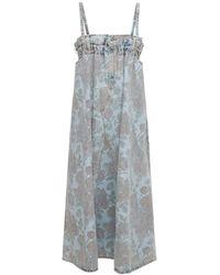 Ganni Levi's インディゴデニムドレス - ブルー