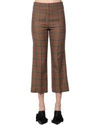 Veronica Beard Pantaloni In Misto Di Lana Principe Di Galles - Neutro