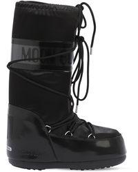 Moon Boot Glance ウォータープルーフナイロンスノーブーツ - ブラック