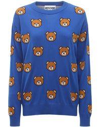 Moschino Teddy Bear コットンセーター - ブルー