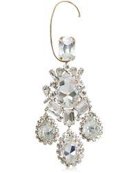 Alexandre Vauthier Crystal Pendant Mono Earring - Metallic