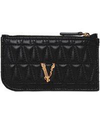 Versace Кредитница Из Стёганой Кожи - Черный