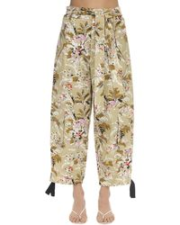 Colville Floral Cargo Trousers - Natural