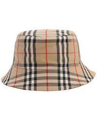 Burberry - コットン ビンテージチェックバケツ帽 - Lyst