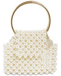 Rosantica Selena Embellished Bucket Bag - White