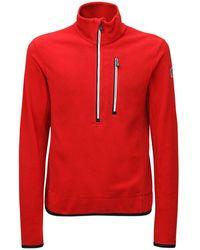 3 MONCLER GRENOBLE ナイロンフリーススウェットシャツ - レッド