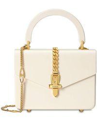 Gucci Sylvie 1969 Mini-Henkeltasche aus Plexiglas - Weiß