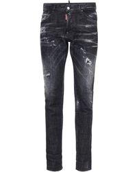 "DSquared² 16.5cm Jeans Aus Stretch-denim ""cool Guy"" - Schwarz"