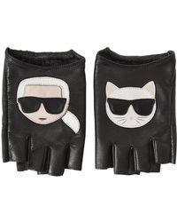 """Karl Lagerfeld - Mitaines En Cuir """"k/ikonik"""" - Lyst"""