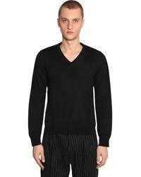 Maison Margiela Wool Knit Jumper - Black