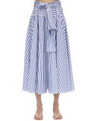 Maryam Nassir Zadeh Carlita Cotton Poplin Skirt - Blue
