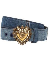"Dolce & Gabbana Cintura ""devotion"" In - Blu"