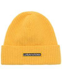 "LUISAVIAROMA Gorro Beanie ""Lvr"" Con Logo - Amarillo"