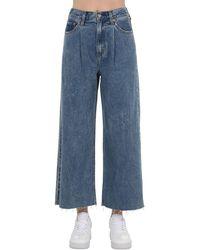 Levi's Jeans Cropped Vita Alta - Blu