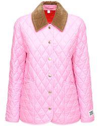 Burberry キルテッドショートジャケット - ピンク