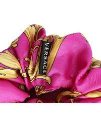 Versace Haarband Aus Seide Mit Druck - Pink