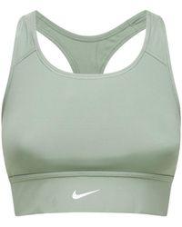 Nike Бюстгальтер Со Средней Поддержкой - Зеленый