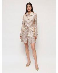 Dolce & Gabbana Короткое Пальто Из Жаккарда Ламè - Розовый