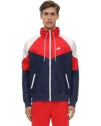 Nike Giacca In Techno Tessuto - Rosso