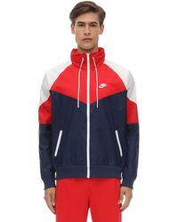 Nike Giacca In Techno Tessuto - Blu