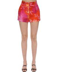 Versace Jungle Print Viscose Crepe Shorts - Многоцветный